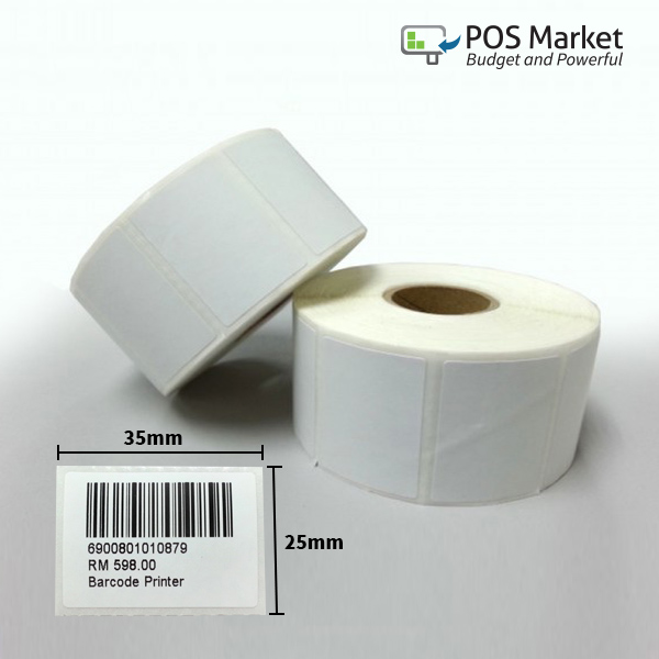 WAS // NOW/' Supplied On A Roll 50 x 25mm /'SALE Promotional Labels