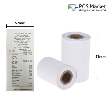 Thermal Paper Roll 57mm width x 40mm diamter 10 rolls