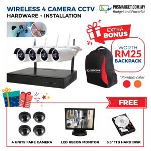 CCTV Installation Pasang CCTV 4CH KL Selangor Melaka Negeri Sembilan JB Perak Penang Kedah Wifi CCTV Camera Wireless