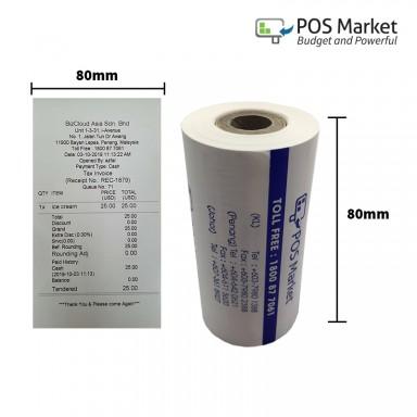 Thermal Paper Roll  80mm width x 40mm diameter 10 rolls