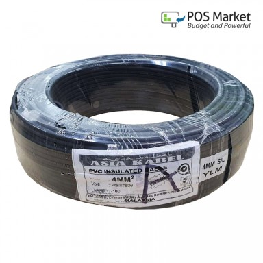 Wire PVC Insulated Cable High Quality 4.0mm 100% Pure Copper 450/750V (Black / Green)