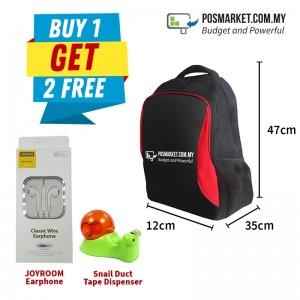 Backpack Buy 1 Get 2 Free JOYROOM Earphone Snail Duct Tape Dispenser POSMarket Red Bag Unisex Multipurpose Bag