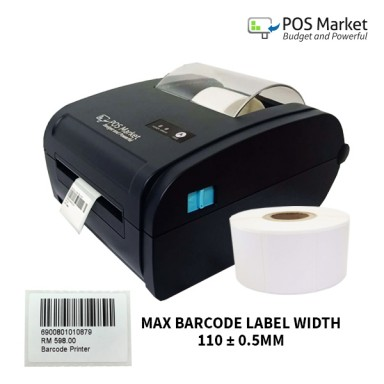 Bluetooth Android Thermal Barcode Label Sticker Printer