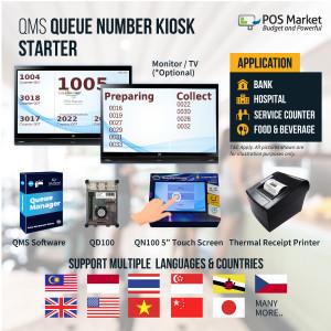 QMS Queue Number Kiosk Starter Queue System