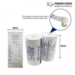 Thermal Paper Roll 80mm Width x 27m Length 10 rolls Coreless
