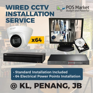 Wired 64 Channel IP CCTV POE Security Camera IP Camera Home and Business CCTV System Set 64 pcs IP Camera